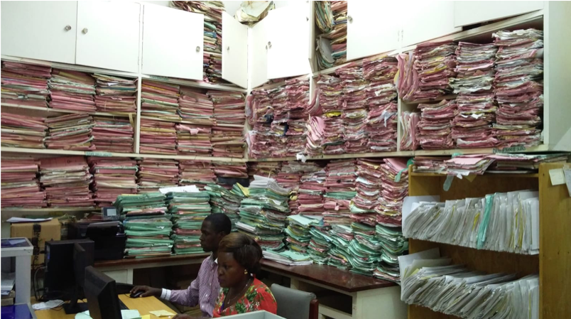 Medical records in one of the hospitals in LMIC