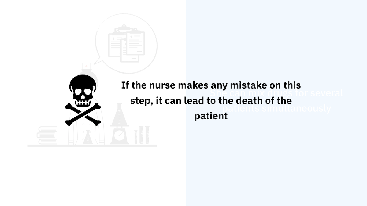 If the nurse makes any mistake on this step, it can lead to the death of the patient